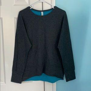 Grey Lululemon sweatshirt with blue inside(new)